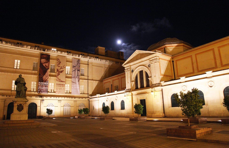 Vue Nocture de la facade du Palais Fesch et de la Chapelle Imperiale-Palais Musee Fesch-©Sylvain Alessandri-1