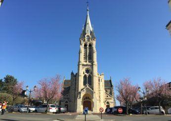 Façade de l'église Saint-Lubin
